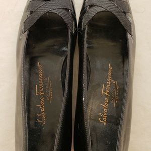 Salvatore Ferragamo Shoes - Salvatore Ferragamo Black Ballet Shoe Vintage 6